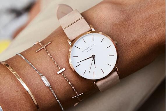 Dámské rosegold hodinky