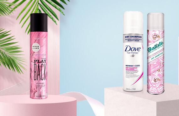 Suché šampóny