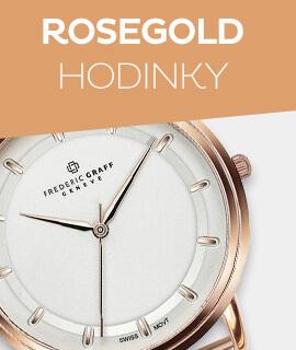 Dámské růžově zlaté hodinky