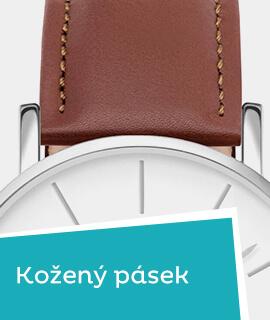 Pánské klasické hodinky s koženým řemínkem