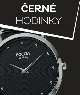 Dámské černé klasické hodinky