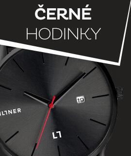 Pánské černé klasické hodinky