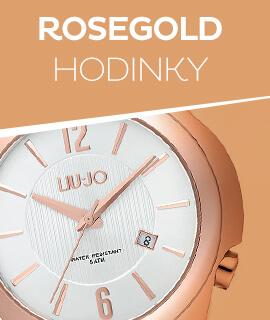 Dámské růžově zlaté klasické hodinky