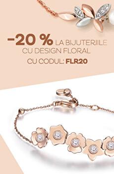 - 20 % la toate bijuteriile cu design Flora