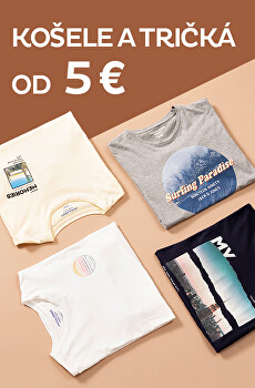 Košele a tričká od 5 €