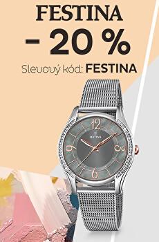 - 20 % na nezlevněné hodinky Festina