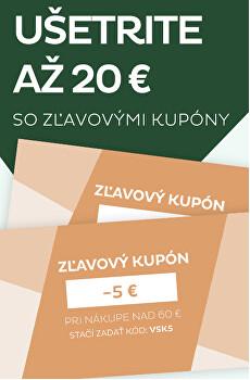 Ušetrite až 20 €so zľavovými kupóny