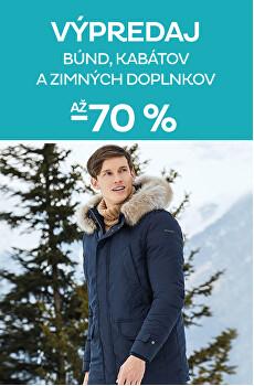 Výpredaj pánskych zimných kúskov až -70 %