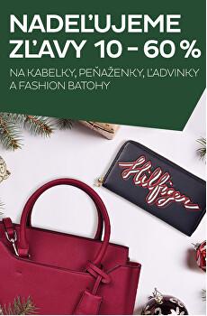 Kabelky, peněženky, fashion batohy se slevou 10 až 60 %