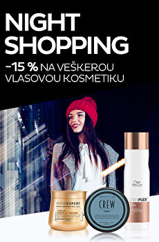 Night Shopping -15% na vlasovou kosmetiku
