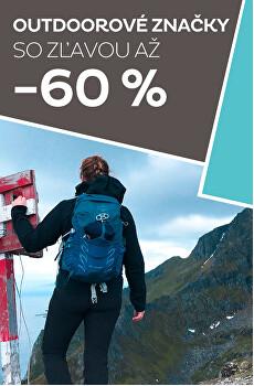 outdoorové značky až -60 %