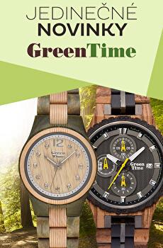 Dřevěné hodinky Green Time