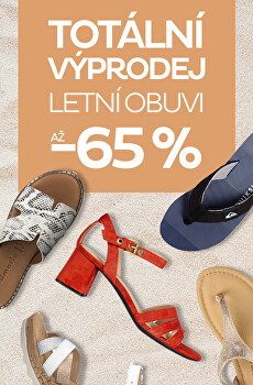 Totální výprodej letní obuvi až 65 %
