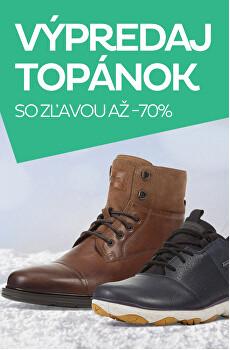Výpredaj topánok so zľavou až -70 %