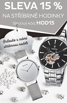 Sleva 15 % na stříbrné hodinky