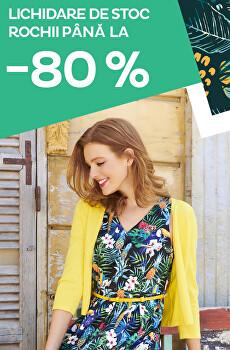 Lichidare de stoc rochii până la -80 %
