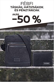 Táskák, hátizsákok és pénztárcák akár -50%