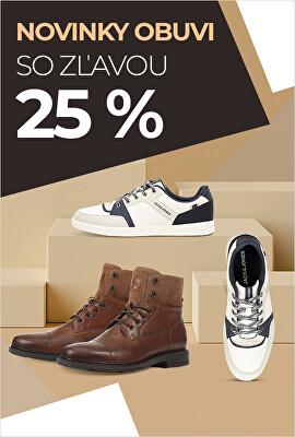 Novinky obuvi so zľavou 25 %