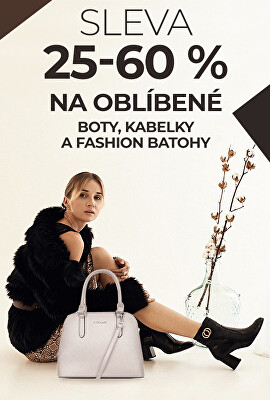 Sleva 25-60% na oblíbené boty, kabelky a fashion batohy