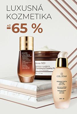 Luxusná kozmetika až -65 %