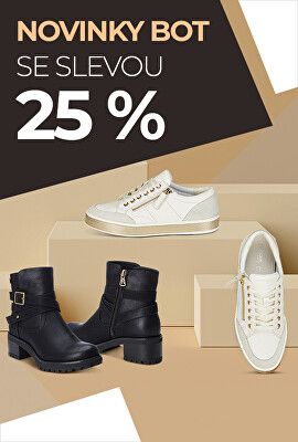 Novinky bot se slevou 25 %