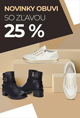 Novinky obuvi so zľavou 25%