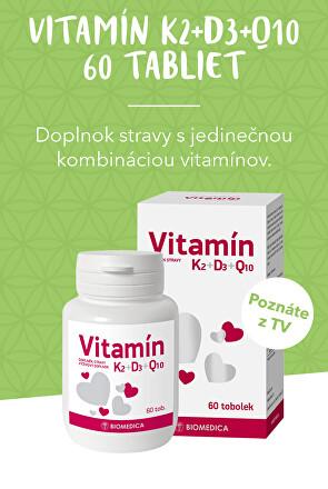 Vitamín K2+D3+Q10 60 tablet + dárek