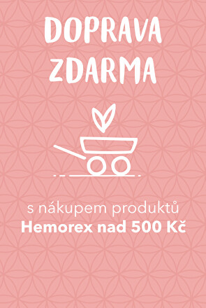 Doprava zdarma s Hemorex nad 500 Kč