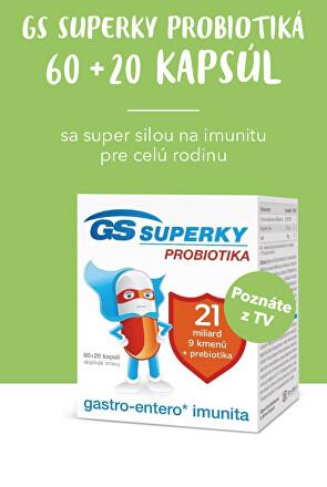 GS Superky probiotiká 60+20 kapsúl