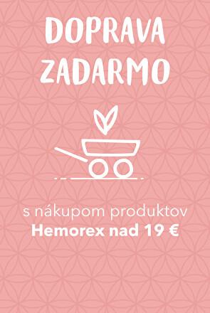 Doprava zadarmo s Hemorex nad 19 EUR