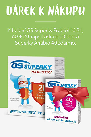 GS Superky probiotika + dárek