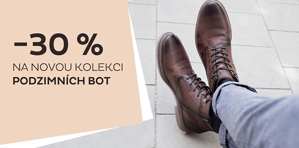 - 30 % na novou kolekci obuvi