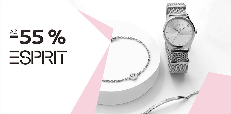 Až -55 % na šperky a hodinky Esprit