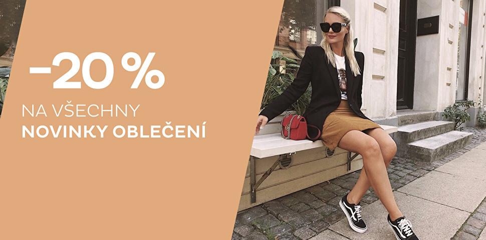 Sleva - 20 % na novinky oblečení