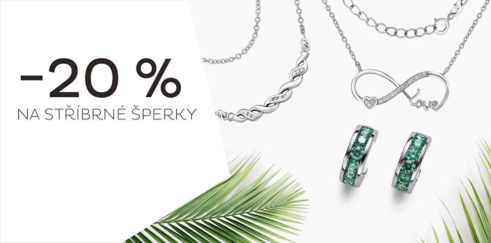 Sleva 20 % na stříbrné šperky