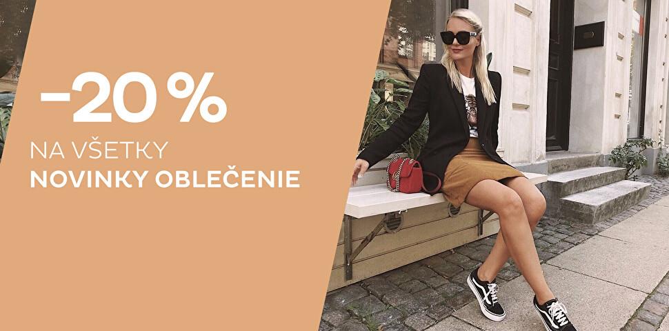 Zľava - 20 % na novinky oblečenie