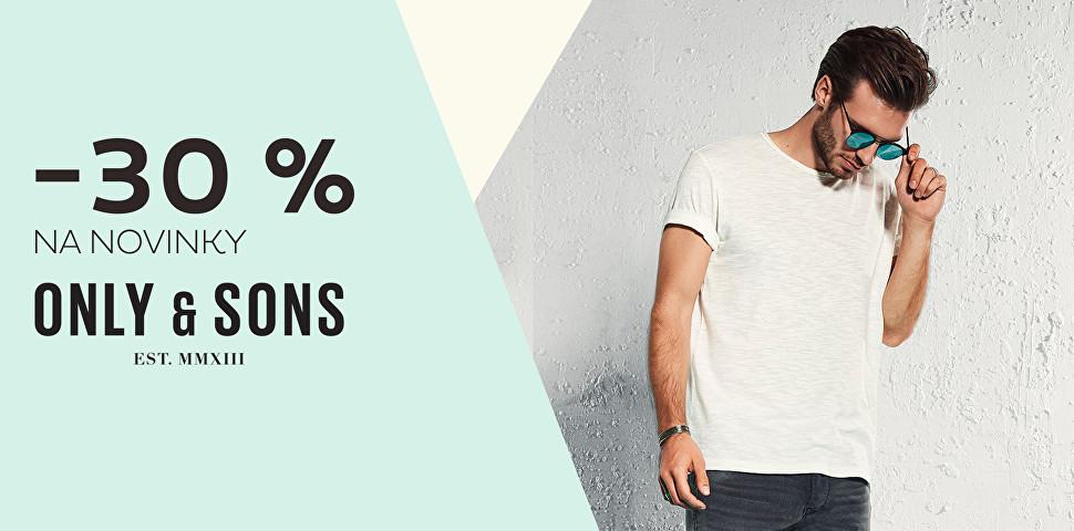 Novinky ONLY&SONS se slevou 30 %