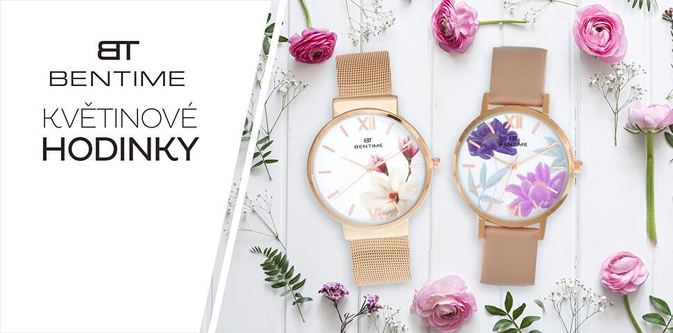 Květinové hodinky Bentime