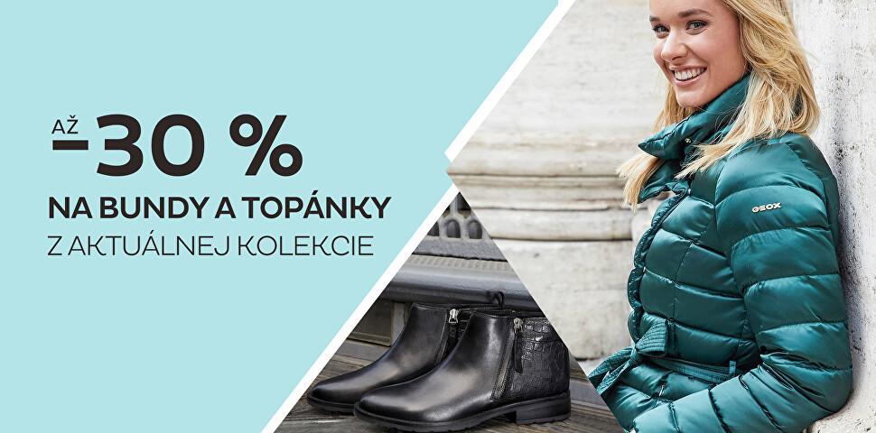 Až -30 % na bundy a topánky