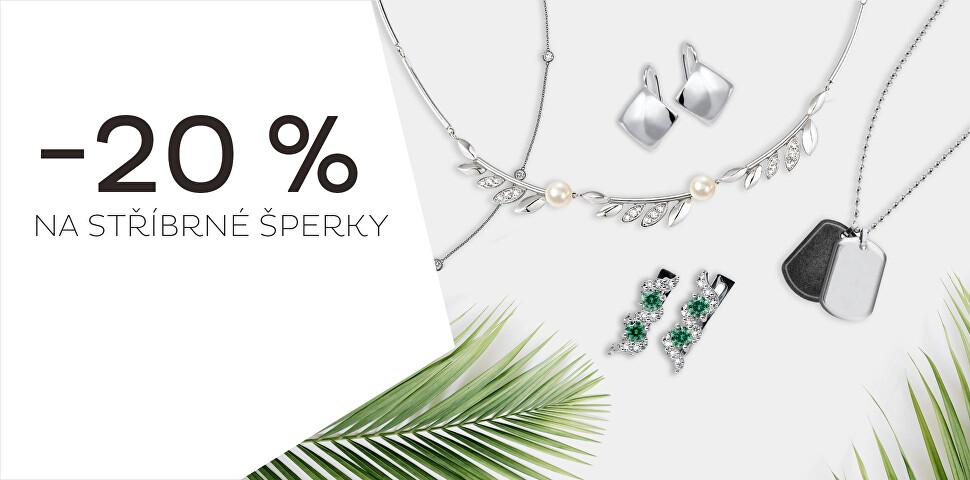 Sleva 20 % na veškeré stříbrné šperky