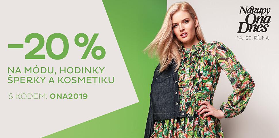 -20 % Nákupy Ona Dnes