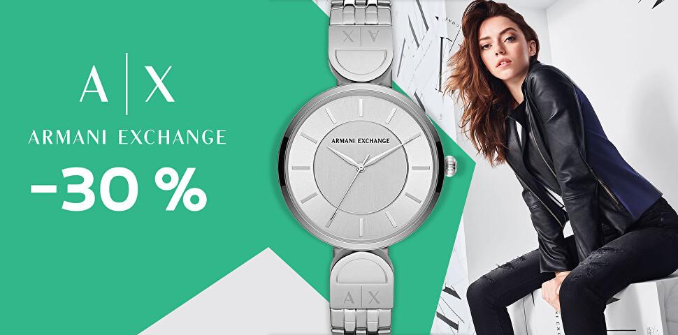 - 30 % na hodinky Armani