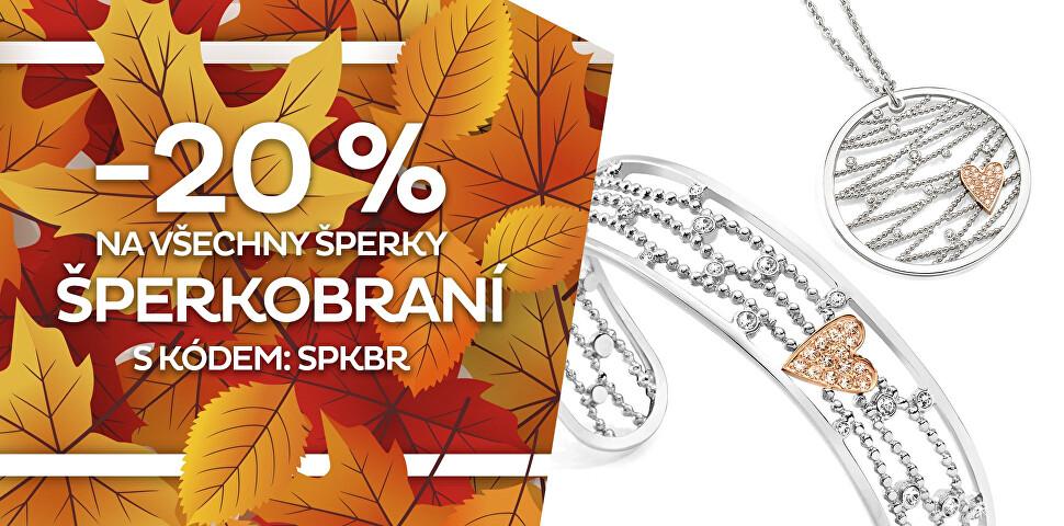 Sleva 20 % na všechny šperky