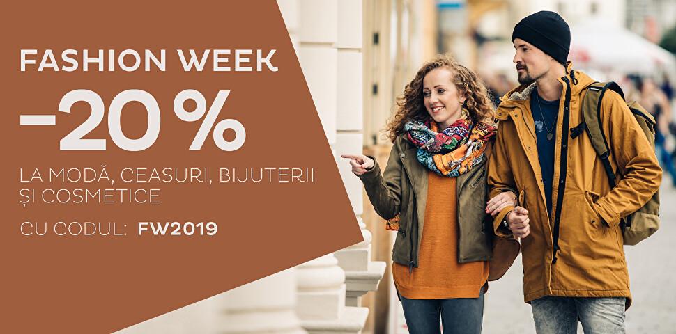 -20 % Fashion week 2019