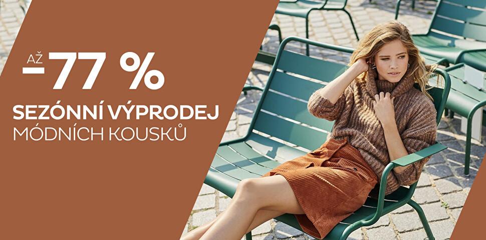 Sezónní výprodej módy až - 77 %