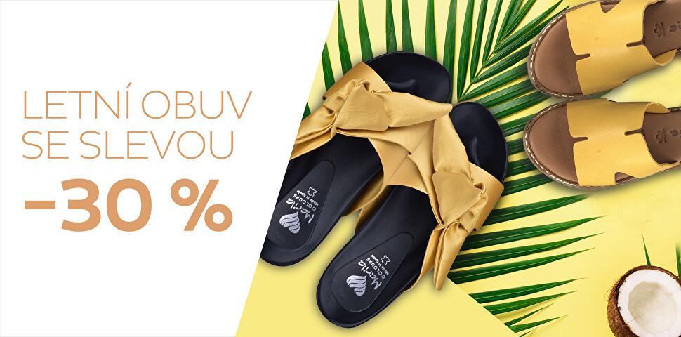 Aktuální kolekce obuvi se slevou 30 %