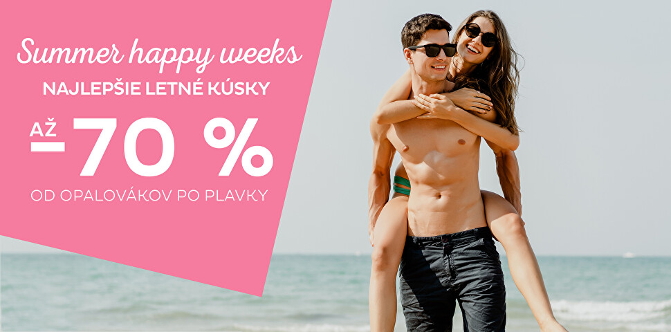 Summer happy weeks zľava až 70 %