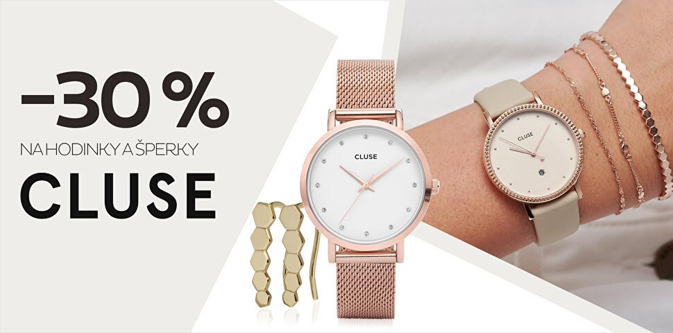 -30 % na hodinky a šperky Cluse