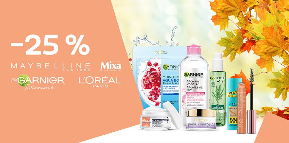 -25 % na oblíbené kosmetické značky