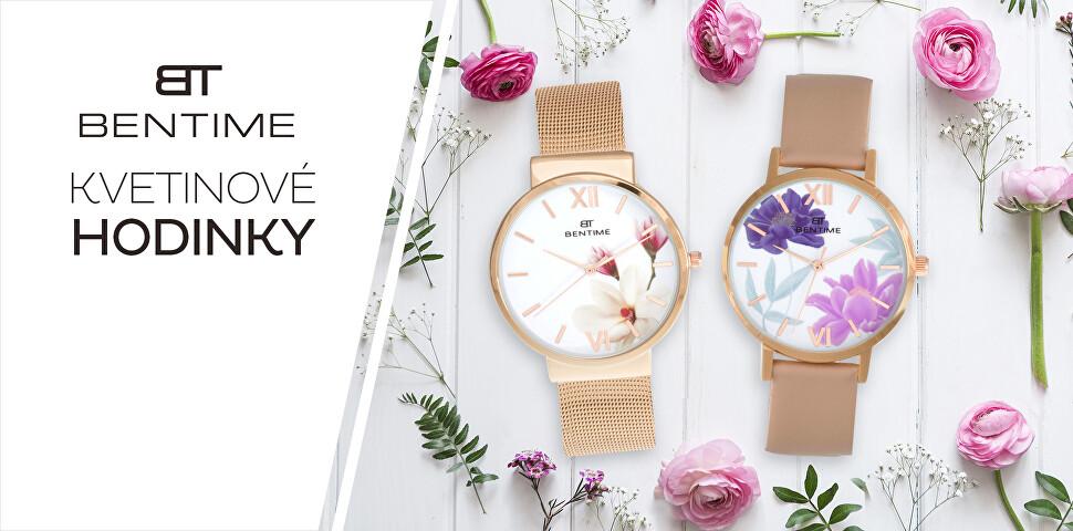 Kvetinové hodinky Bentime